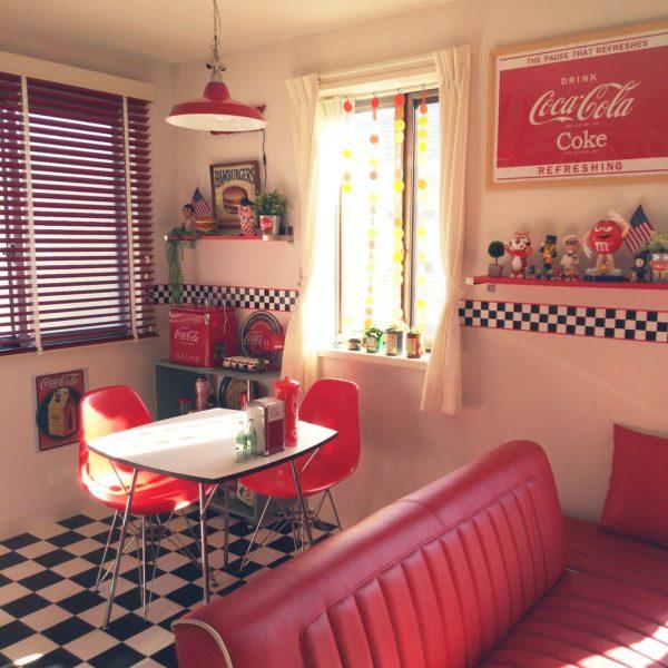 カラフルで可愛いレトロポップな雑貨で部屋をアメリカンダイナー風に