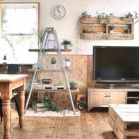 脚立を簡単DIY☆男前やナチュラルなお部屋にぴったりな飾り棚を作っちゃおう♪