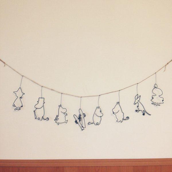 可愛いムーミンのガーランドを作ったら、小さなお子さんも大喜びですね♡子供部屋に飾るのはいかがですか?