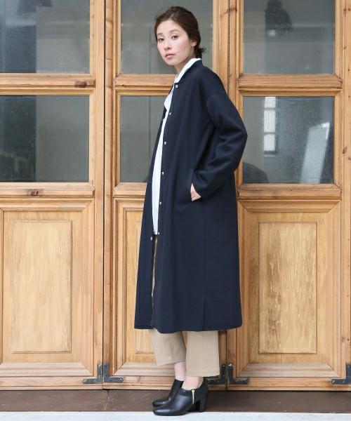 ◆LEPSIM ロングブルゾンコート  フィールドコートのようなニュアンスのロングブルゾンですが、シンプルなデザインなのでシックなコーディネートにも気兼ねなく羽織れます。コートより軽くサラッと着こなせて便利♪