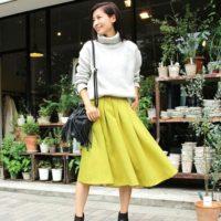 女らしく春めいて♪ふんわりエアリーなカラースカートを使った春コーディネート☆