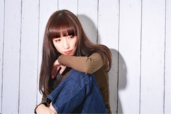 【ロング】前髪ぱっつん髪型集