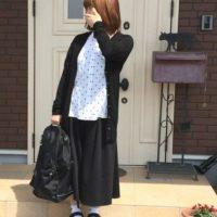 簡単ゆるコーデ特集♡GUのガウチョパンツならスカート見えして可愛い♪