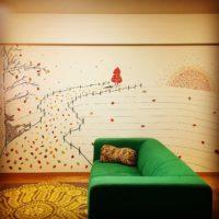 シンプルな壁がアートに!マスキングテープで楽しむお部屋のイメチェン