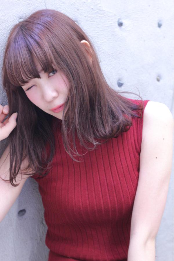 【ミディアム】前髪ぱっつん髪型集12