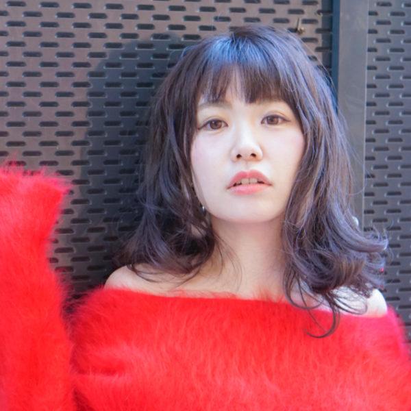 【ミディアム】前髪ぱっつん髪型集7