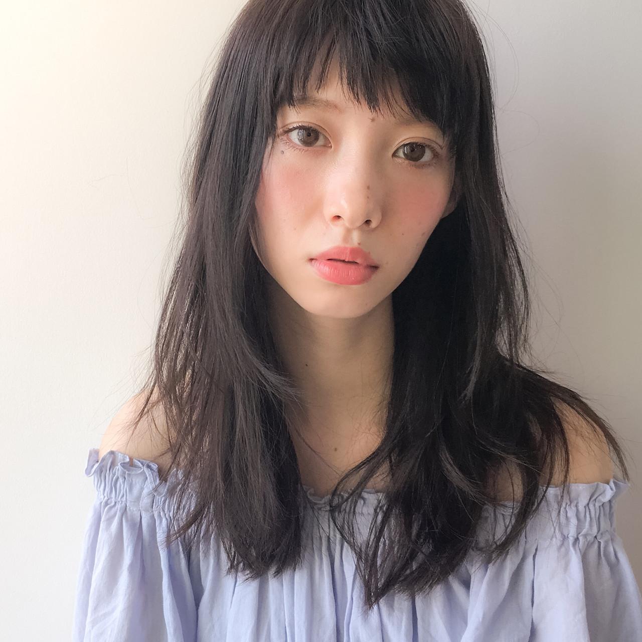 黒髪ロングヘア9
