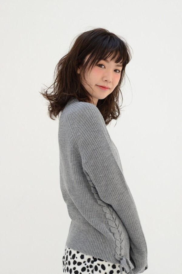【ミディアム】前髪ぱっつん髪型集3