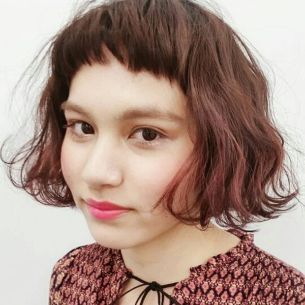【ボブ】前髪ぱっつん髪型集5