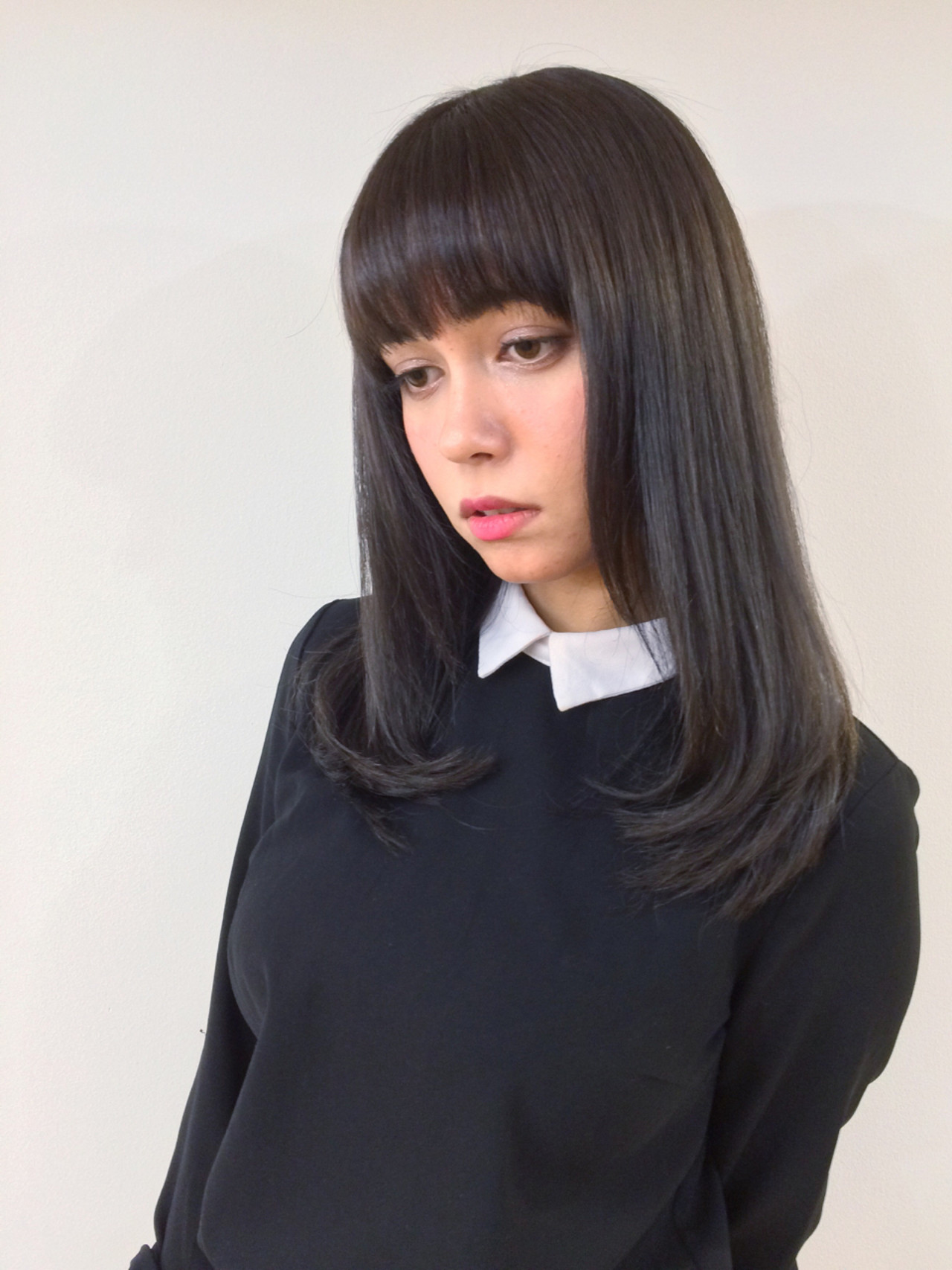 黒髪ロングヘア3