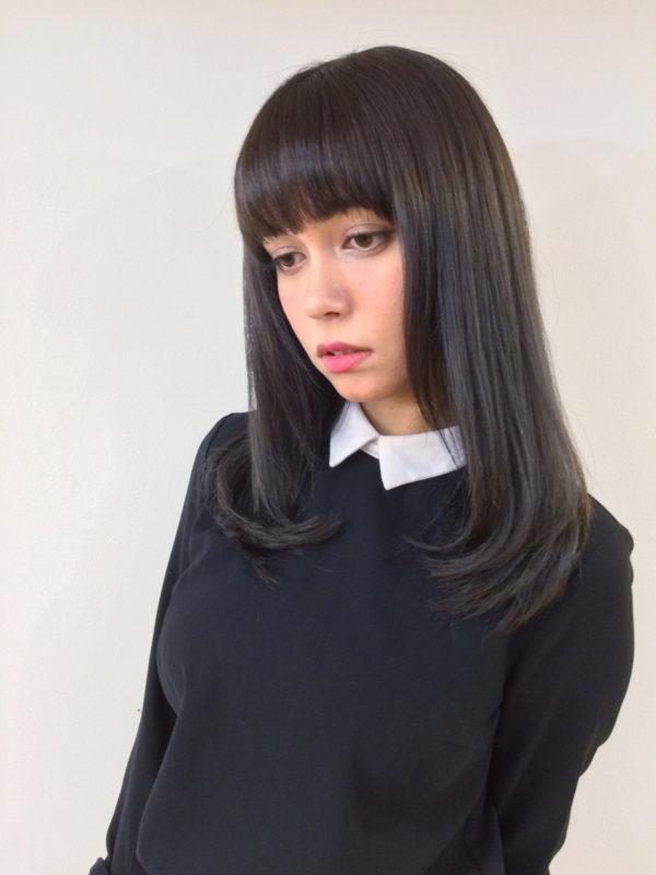 【ロング】前髪ぱっつん髪型集4