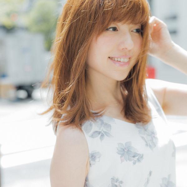 【ミディアム】前髪ぱっつん髪型集10
