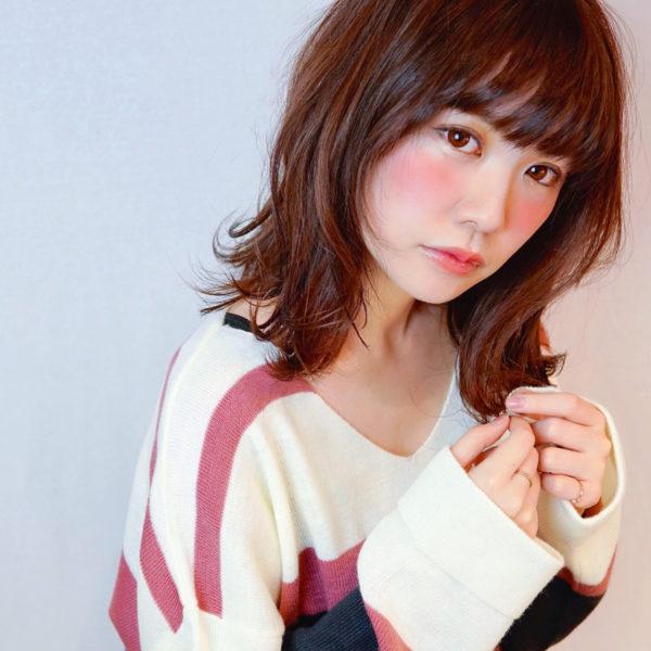 【ミディアム】前髪ぱっつん髪型集5