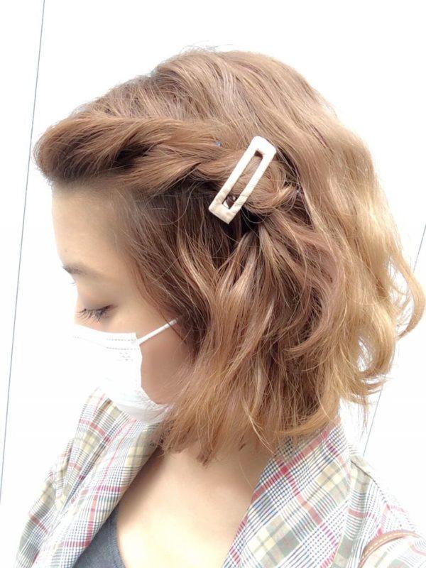 前髪アレンジ3