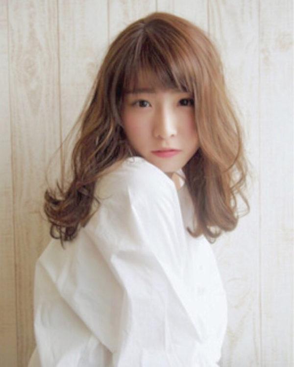 【ロング】前髪ぱっつん髪型集12