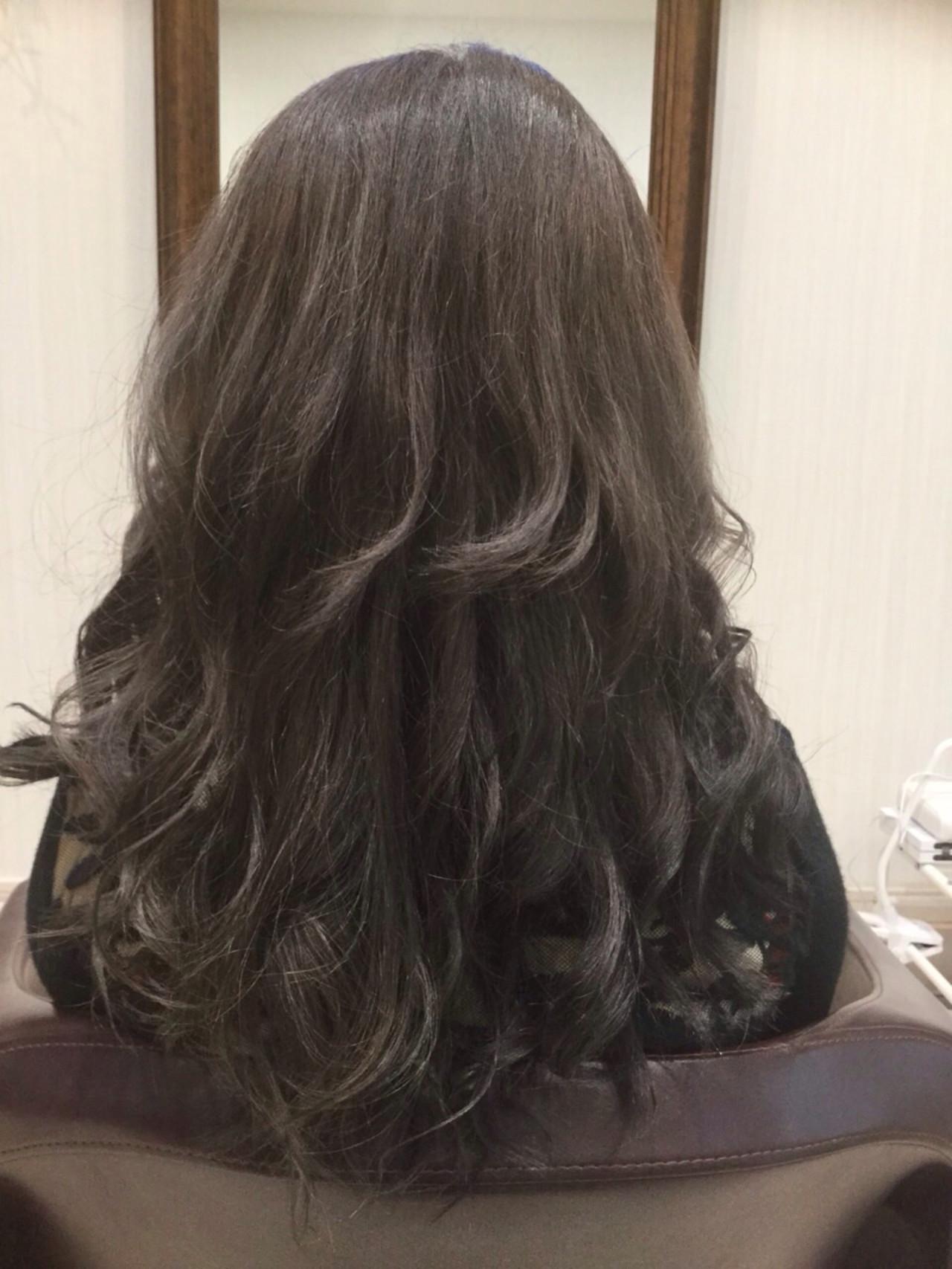 黒髪ロングヘア47