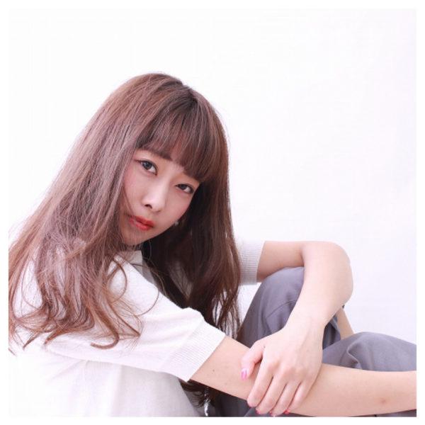 【ロング】前髪ぱっつん髪型集3