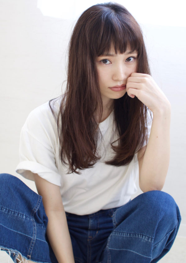 【ロング】前髪ぱっつん髪型集2