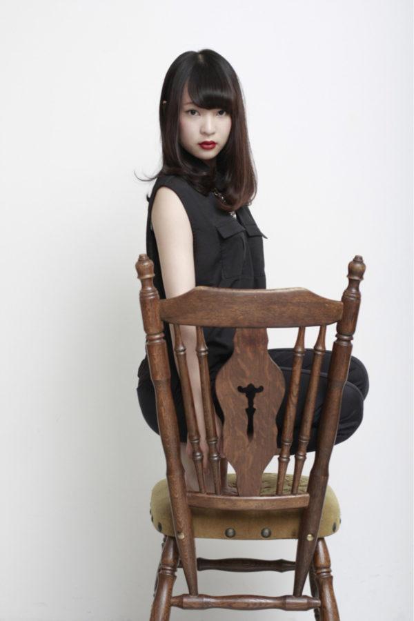 【ロング】前髪ぱっつん髪型集7