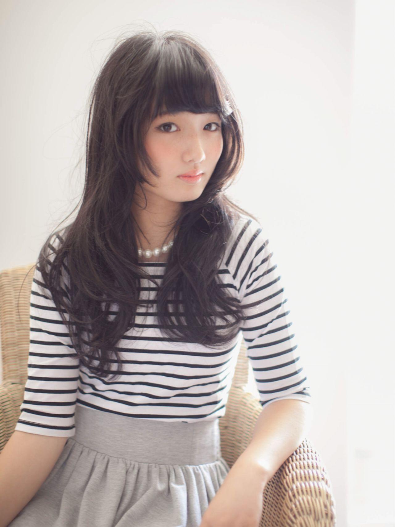 黒髪ロングヘア13