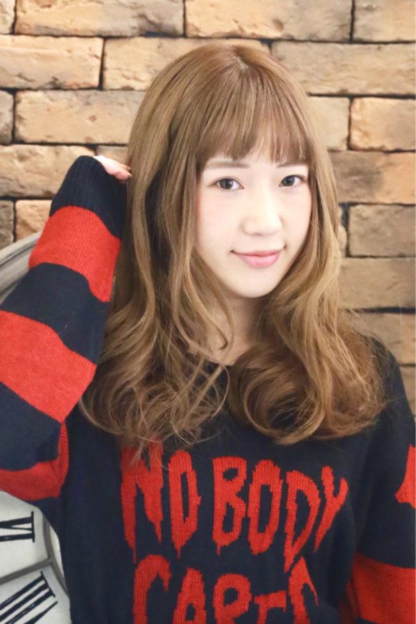 【ロング】前髪ぱっつん髪型集10