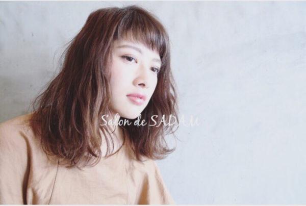 【ミディアム】前髪ぱっつん髪型集13