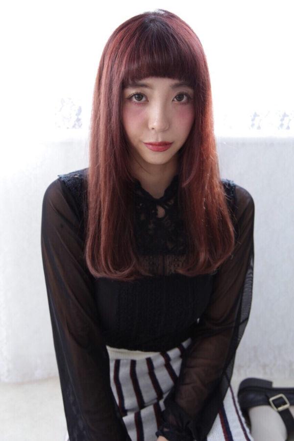 【ロング】前髪ぱっつん髪型集5