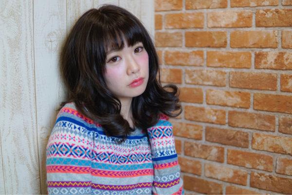 【ミディアム】前髪ぱっつん髪型集11