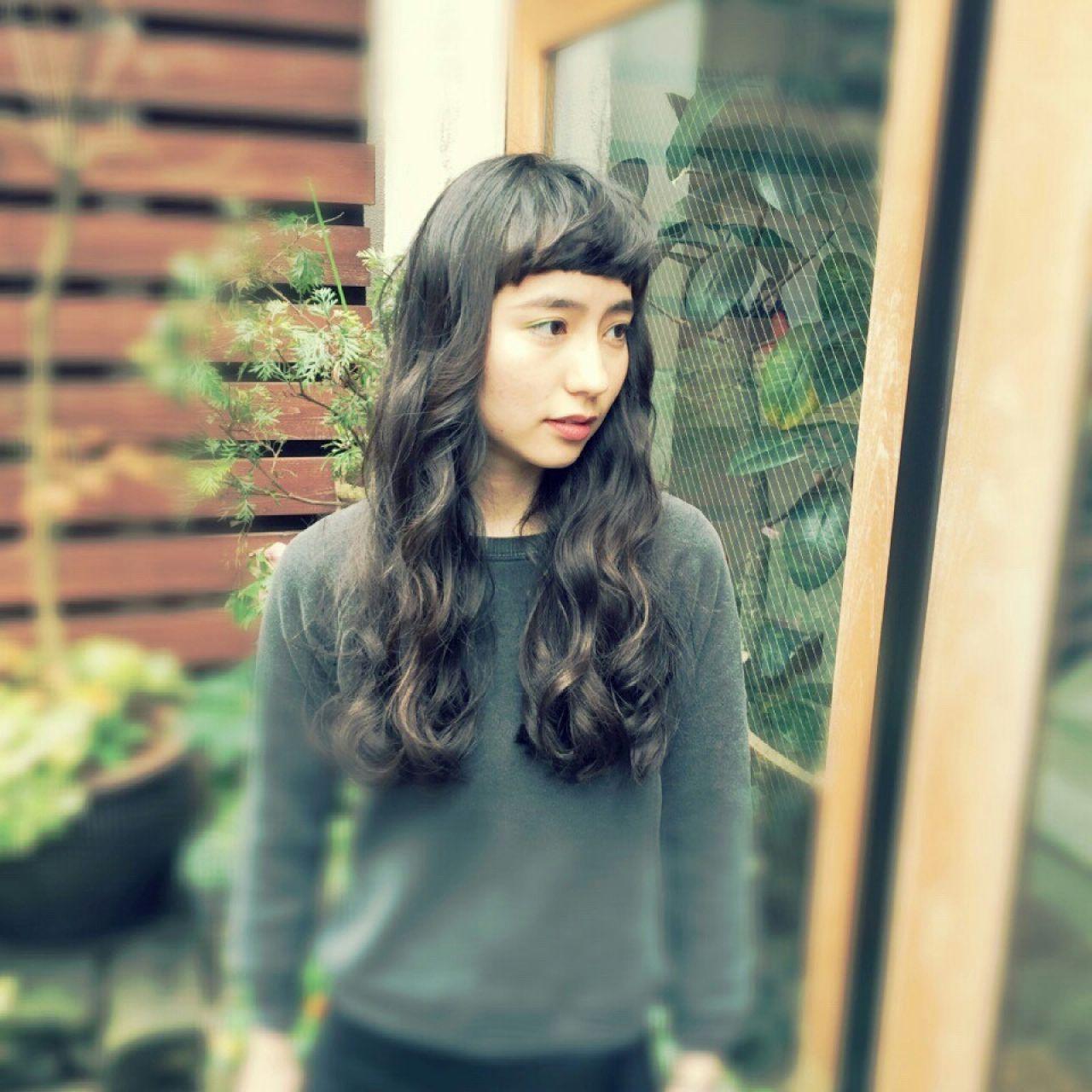 黒髪ロングヘア35