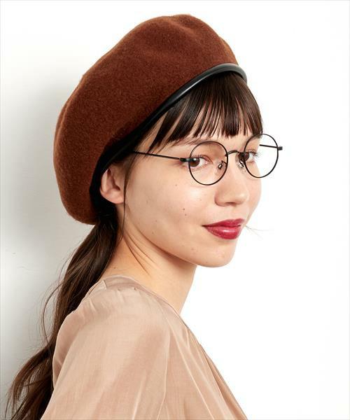 このカラーをベレー帽でチョイスすると、かなり知的な雰囲気に。肌馴染みも良いカラーですよ♪
