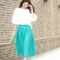 大人女子におススメ!色とりどりのキレイ色スカートで春夏のおしゃれを楽しみませんか?