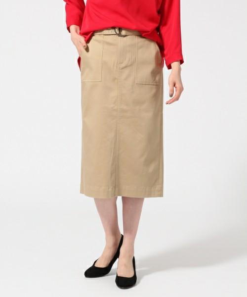 シックにもカジュアルにも使える大人なタイトスカート。シャツやニットを着る機会が多い春には大活躍間違いなしのアイテムです。