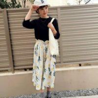 花柄スカートコーデ12選☆みんなの花柄スカートの着こなしが気になる!