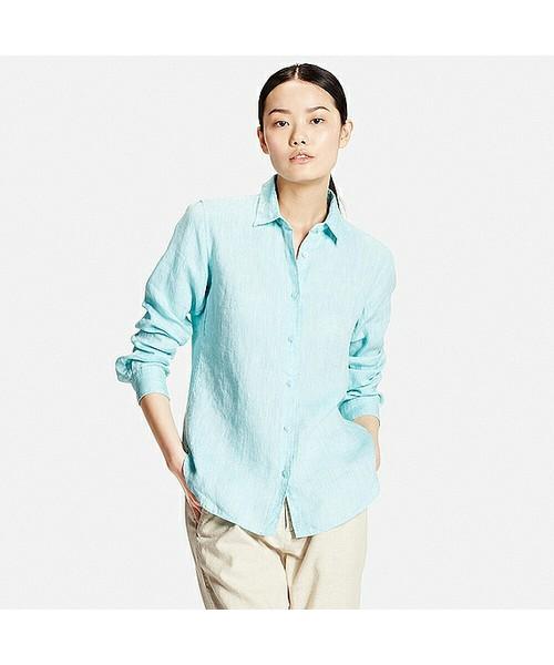 プチプラなのにきちんと感をキープしてくれるユニクロのシャツ♪大人女子にもぴったりなユニクロのシャツを使って春にぴったりな着こなしを作りませんか?着回し力もあるので、1枚持っていて損はないアイテムです♡