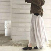 春はやっぱりコレ☆フェミニンなチュールスカートを大人っぽく着こなしたい!
