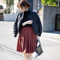 この春は清楚系で決まり☆ユニクロのタックスカートを活用して清純な雰囲気を演出!