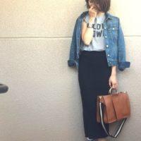 女性らしいシルエットで大人気♡ユニクロのリブスカートを使った春コーデ集