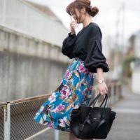 春の黒色をお洋服のアクセントにした、洗練された女子コーデを楽しむのもあり!