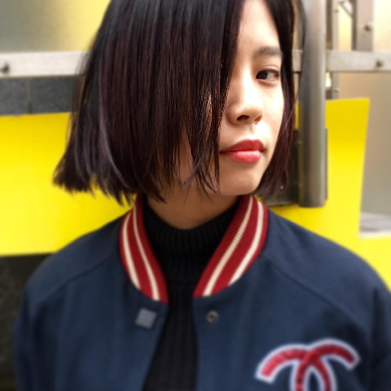 【黒髪】ストレートボブ4