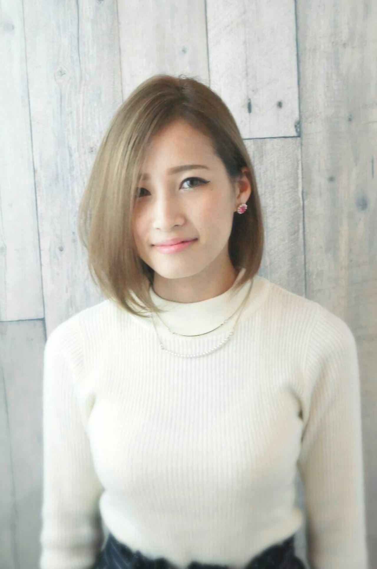 【前髪あり】ストレートボブ15