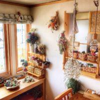 リース教室の先生makitakachanさん宅からドライフラワーのおしゃれな飾り方を学ぼう!