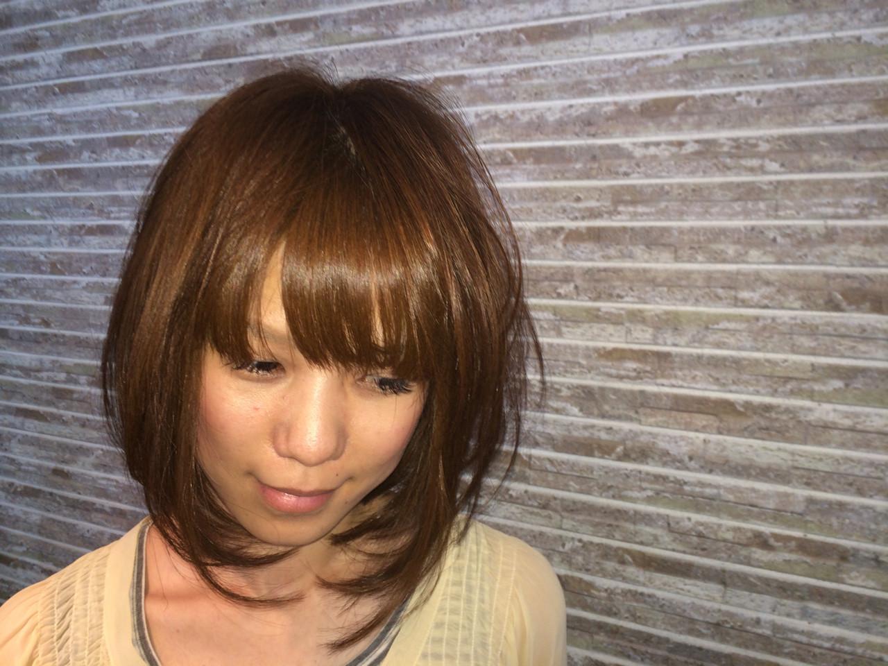 【前髪あり】ストレートボブ5