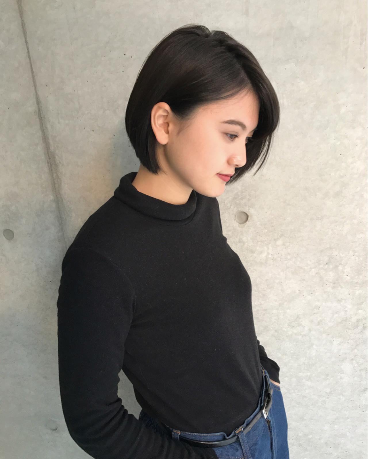 【黒髪】ストレートボブ11