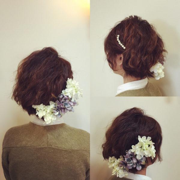 結婚式のボブヘアアレンジ46