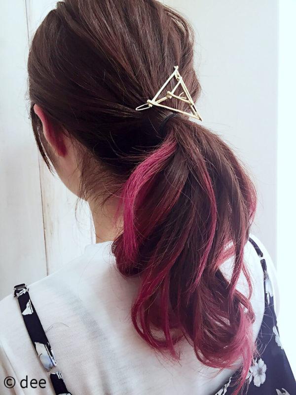 使い方はいたってシンプルです。ヘアゴムなどでまとめた髪の上に、結び目を隠すようにマジェステをつけるだけでOK♡