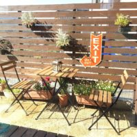 ガーデンテーブルのあるお家☆春にはお庭やベランダで癒しの時間を♪
