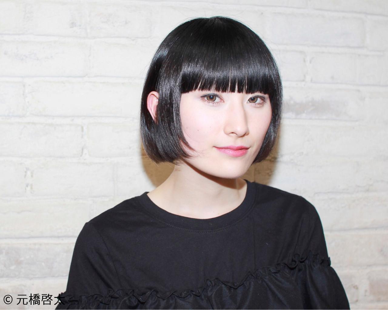 【黒髪】ストレートボブ9