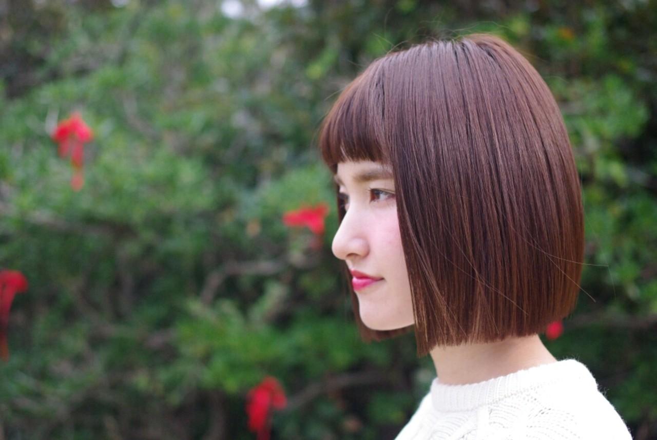 【前髪あり】ストレートボブ6