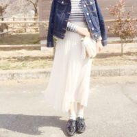 華やぐ春にはスカートもフェミニンに♡ユニクロのシフォンプリーツスカート