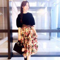 華やかな花柄スカートをキレイに着こなそう♡ZARAの花柄スカートコーデ特集